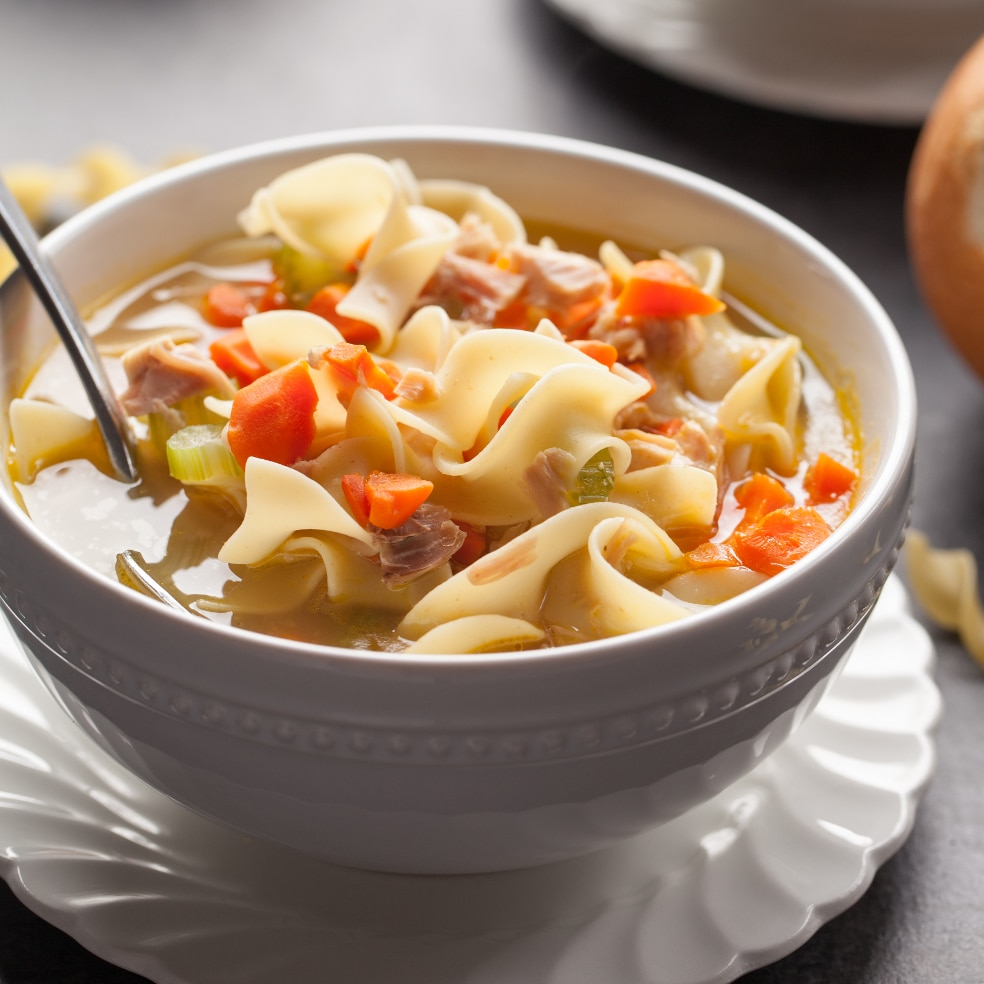 Chicken Noodle Soup is a favorite soup for chilly days or when we need an immunity boost.